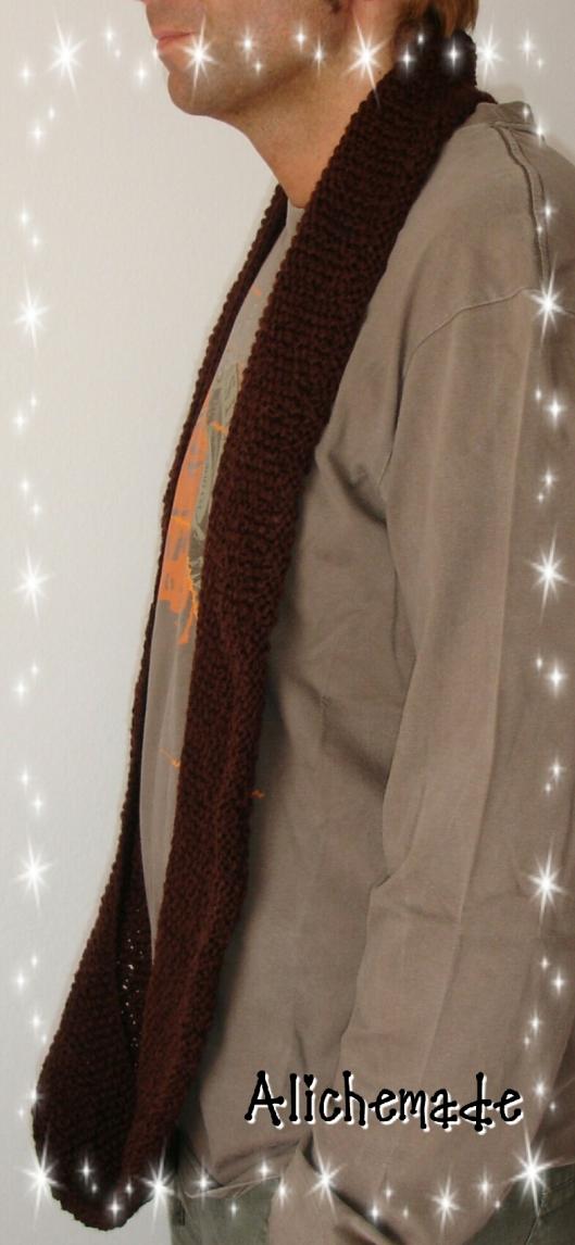 Para que podáis ver la longitud de la bufanda...